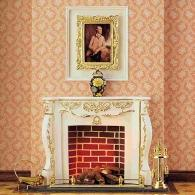 Fireplaces in wood and plaster