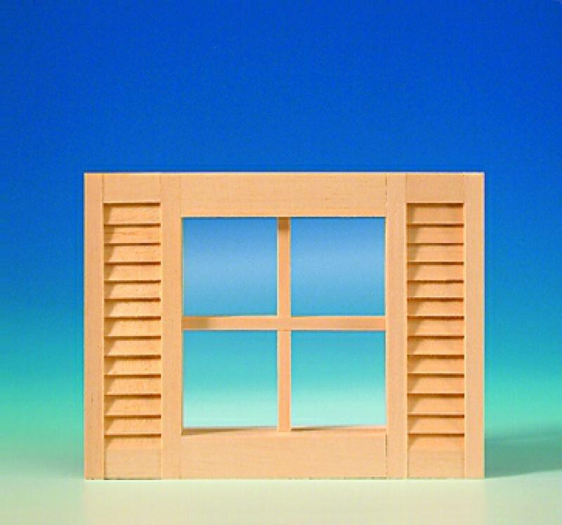 Finestra a 4 luci con ante aperte mini mundus mm50310 sn models ecommerce modellismo - Finestre condominiali aperte o chiuse ...