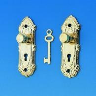 Antique doorplate with door knop