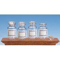 Glass bottles without labels (4pcs)