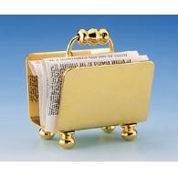 Brass magazine rack