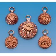 Copper forms (5 pcs)