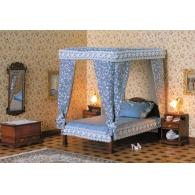 Chippendale four-poster bed
