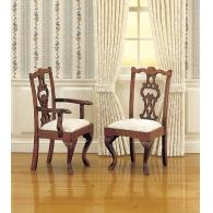 Chippendale chairs with armrests (2 pcs)