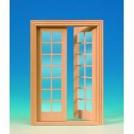 Double glass door (28 lights)
