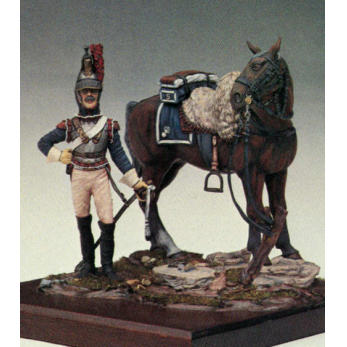 Cuirassier on horseback